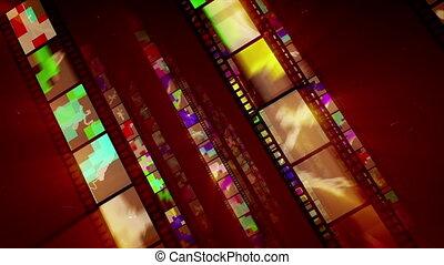 """Shining Diagonal Film Tape Advancement "" - ""A stunning 3d..."