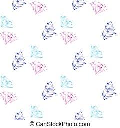 shining diamonds seamless pattern