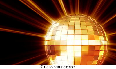 Shining disco mirrorball - Seamlessly loopable motion...
