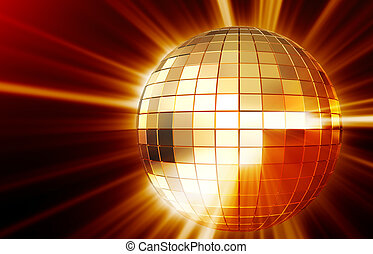 Shining disco mirrorball