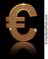 shining euro sign