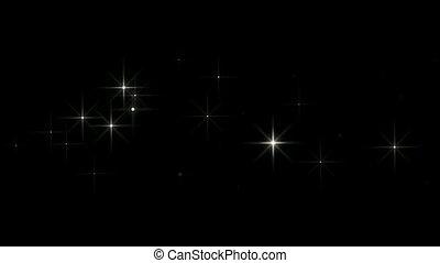 shining falling stars