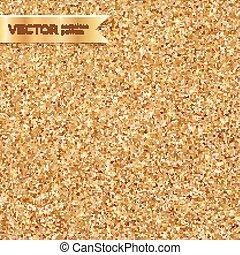 Shining golden glitter texture seamless pattern