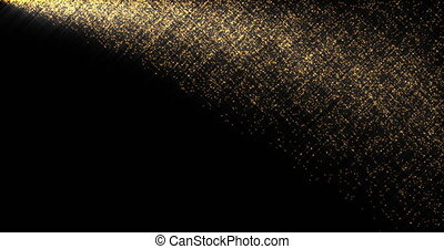 Shining golden sparkles flow abstract footage. Stardust...