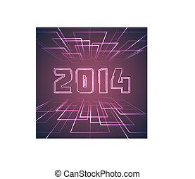 Shining Happy New Year Background