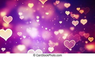 shining hearts bokeh loopable