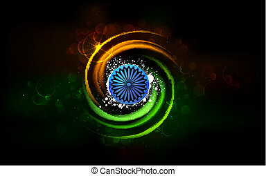 Shining India - illustration of abstract shining Indian...