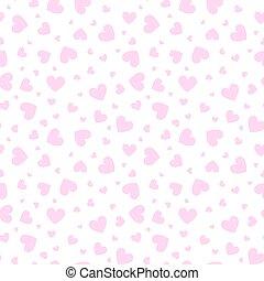Shining little hearts vector seamless pattern