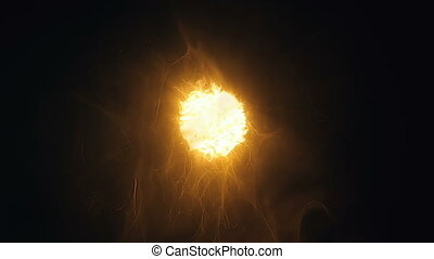 Shining particle of energy with variable field - Radiant...