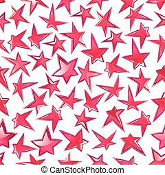 Shining pink stars seamless pattern background