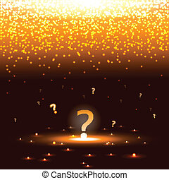 shining question mark with sparks eps10 vector illustration