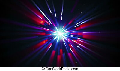 shining radial lights loopable background