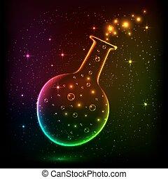 Shining rainbow bottle with magic lights