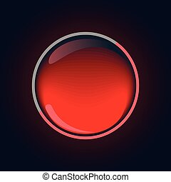 Shining red button