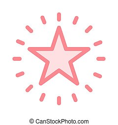 SHINING STAR THIN COLOR LINE ICON