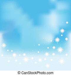 Shining stars on a blue background vector