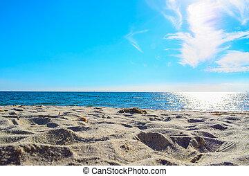 shining sun over the sea in Sardinia