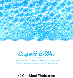 Shining Water Background with Bubbles. Vector illustration