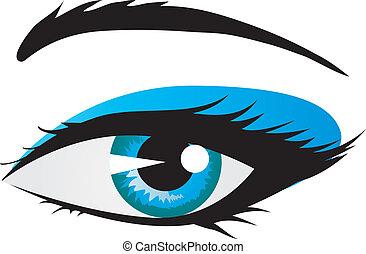 Shining woman eye