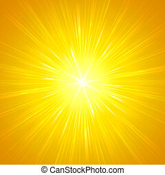 shining yellow lights - abstract background, yellow star...