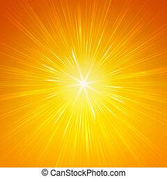 shining yellow lights