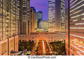 Shinjuku Cityscape - Tokyo, Japan government buildings at...