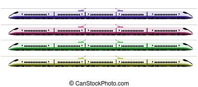 Shinkansen bullet train at Japan railway colors 2 -...