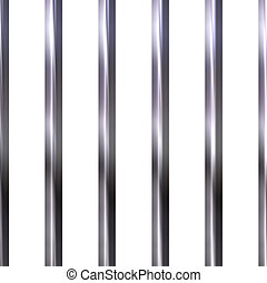 Shinning Jail Bars - Shinning jail bars isolated in white