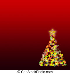 Shinny Christmas tree, abstract background