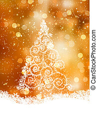 Shinny Christmas Tree. EPS 8 vector file included