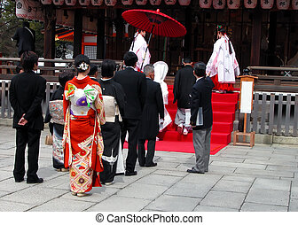 Shinto Wedding - Shinto religious wedding ceremony.