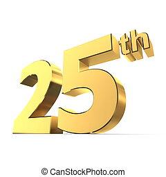 Shiny 25th - Gold