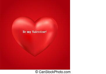 Shiny 3d vector heart