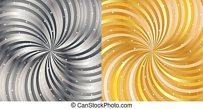 Shiny abstract background - gold and silver.