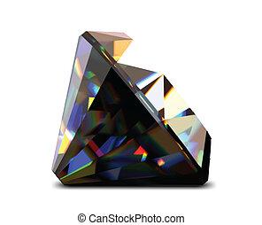 Shiny and bright black diamond. Vector