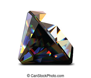 Shiny and bright black diamond. Vector