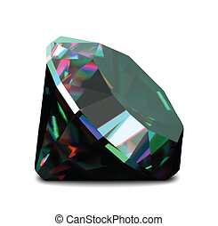 Shiny and bright diamond on a white background. Vector