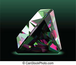 Shiny and bright diamond. Vector