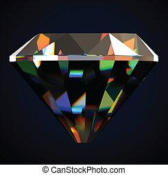 Shiny and bright diamond. Vector illustration