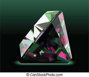 Shiny and bright diamond. Vector