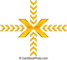 shiny arrows - shiny gold arrows