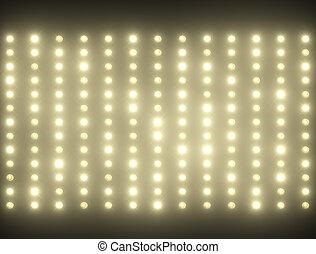 Shiny backgound full of small light bulbs