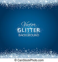 Shiny background with glitter frame and space for text....