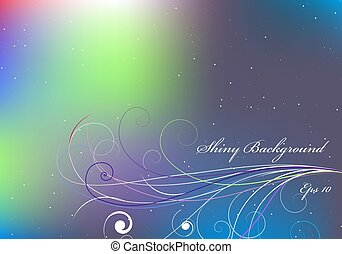 Shiny background with violet and blue color