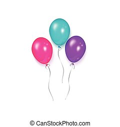 Shiny balloon, birthday party decoration element