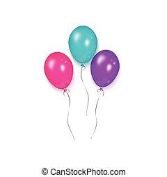 Shiny balloon, birthday party decoration element