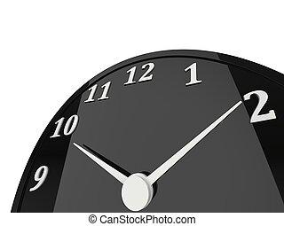 Shiny black clock