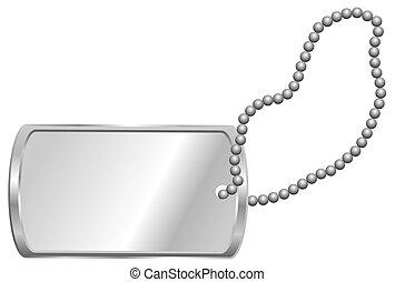 Dog Tag - Shiny Blank Metallic Identification Plate - Dog...
