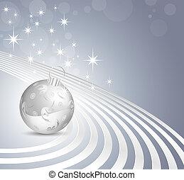 Shiny blue Christmas design