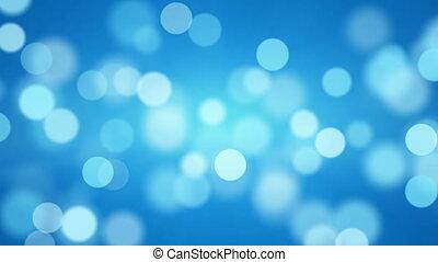 shiny blue defocused lights loopable background